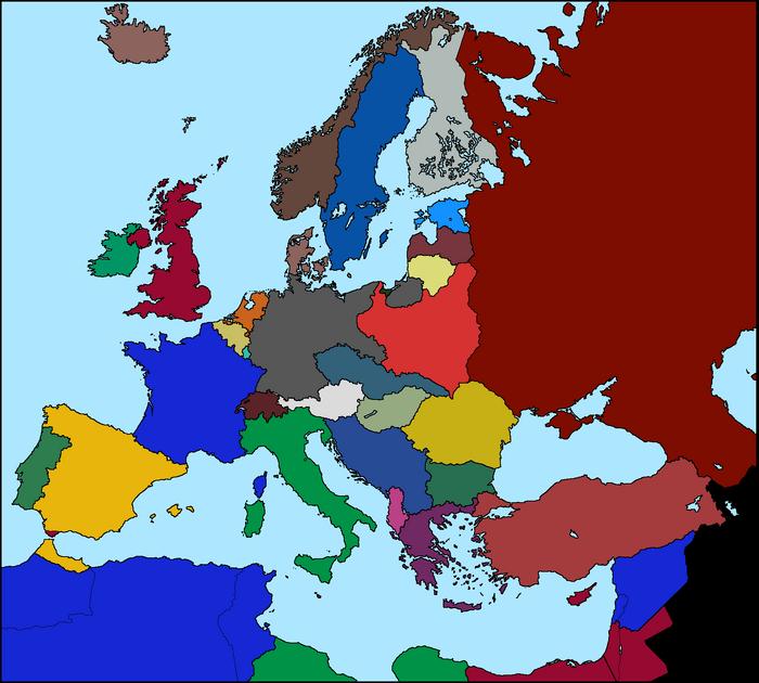 Blank Map Of Europe Before World War 2 – Map of Europe Worksheet