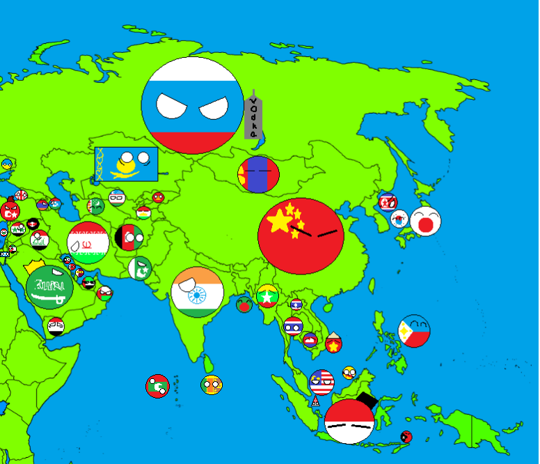 Image Map of asia countryballs UPDATEDpng – Full Map of Asia