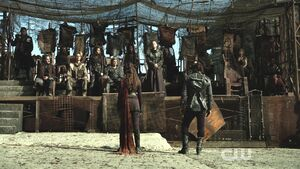 S3 epi 4 - Lexa and Roan prior to thier fight