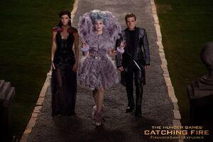 Katniss Effie Peeta Catching Fire