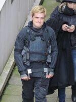 Josh on set