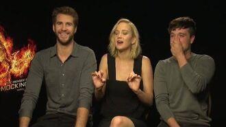 Jennifer Lawrence , Liam Hemsworth & Josh Hutcherson debunk Hunger Games rumours