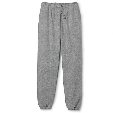 File:Elastic Cuff Sweat pants Gray Heather .jpg