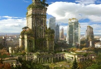 Overgrown-city