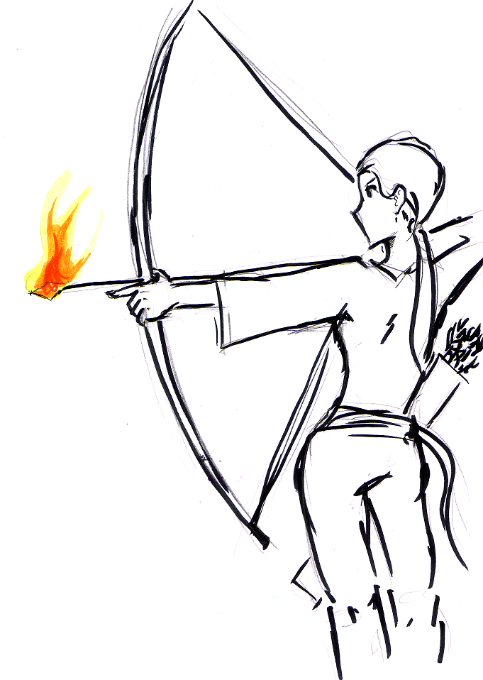Hunting With Bow And Arrow Drawing Bow And Arrow Girl