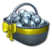 Easter basket silver
