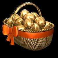 Easter basket gold