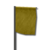 Marker flag yellow
