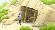 S4E17.004 Mordecai and Rigby Removing the Boards from the Cave