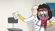 S7E05.250 Scientist Handing Dr. Dome the P-mail