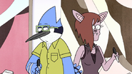 S8E27EP.025 Mordecai and Stef Bumping into Each Other