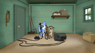 S4E20.081 Mordecai and Rigby Hears Benson Banging on the Door