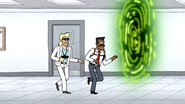 S6E24.065 Carter and Briggs Going Into a Time Portal