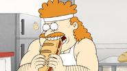 S6E26.019 Sensai Eating the Sandwich of Health