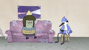 S4E12.114 Mordecai Texting While Watching Muscle Man