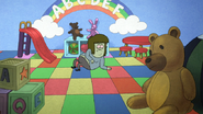 S4E35.143 Muscle Man in a Play Area