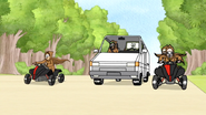S6E12.151 Park Managers Riding ATV Quads