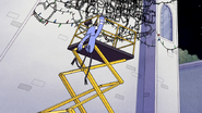 S6E11.173 Mordecai Hanging on the Scissor Lift