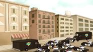 S7E13.143 Cops Outside Benson's Apartment