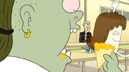 S6E02.088 Muscle Man and Hi-Five Eating Nachos