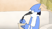 S5E01.056 Mordecai Thinking What to Write
