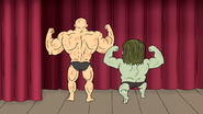 S5E11.139 Muscle Man and Dale Posing