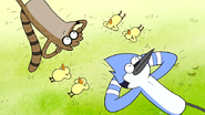 S6E24.045 Mordecai, Rigby, and the Baby Ducks Looking at the Sky
