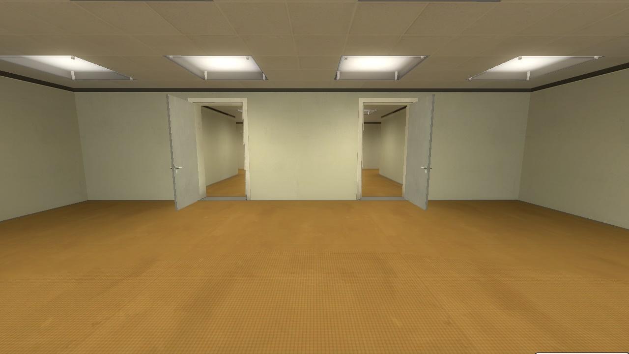 Фотография коридора и двух дверей