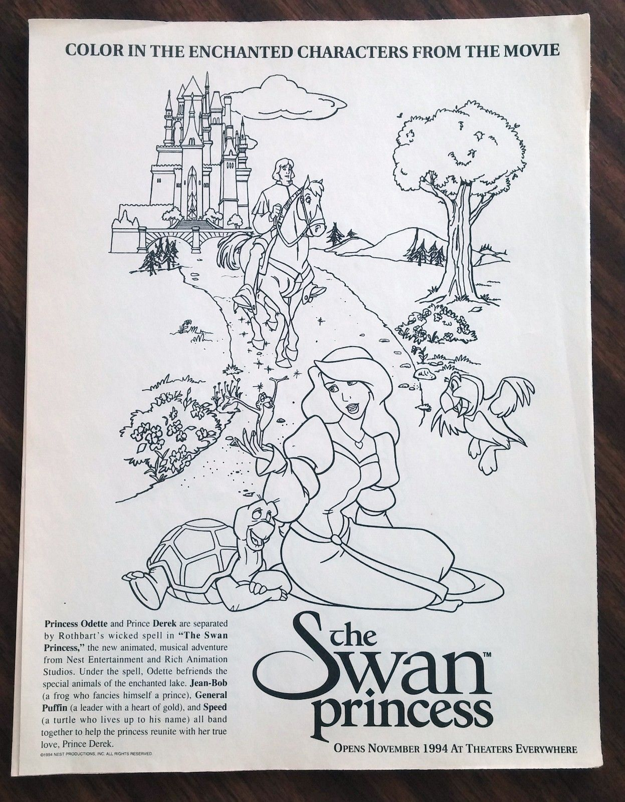 Swan princess coloring pages free - Image Swan Princess Coloring Page Jpg The Wiki