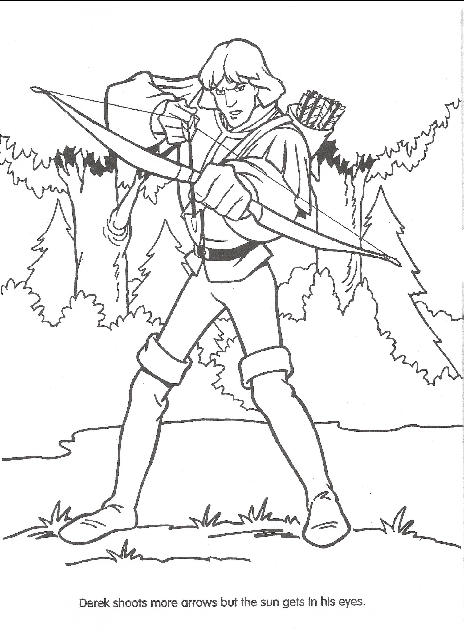Swan Princess Coloring Pages