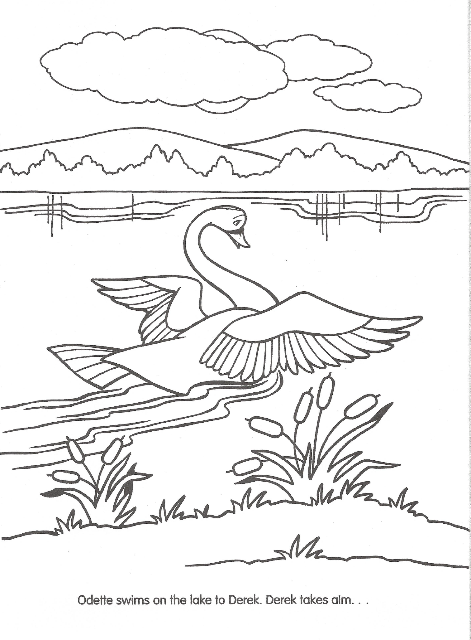Swan princess coloring pages free - Swan Princess Coloring Pages Best 2017