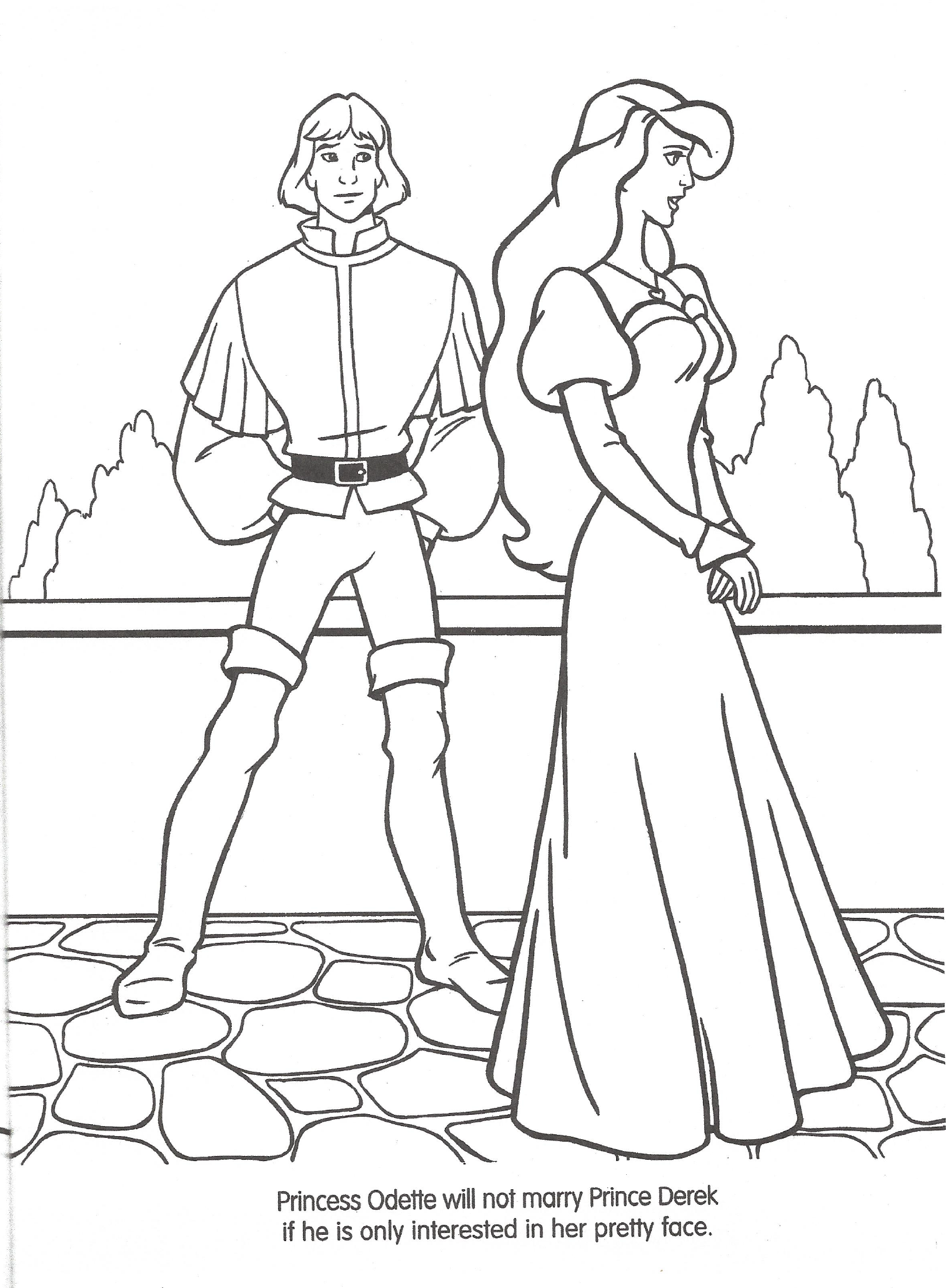 image swan princess official coloring page 8 png the swan