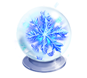 Decoration 3x3 crystal snow globe tn@2x