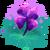 Decoration 1x1 purple four leaf clover@2x