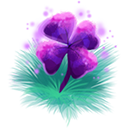 Decoration 1x1 purple four leaf clover@2x