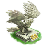 Decoration 2x2 spectral falcon statue tn@2x