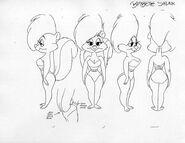 Bimbette skunk model sheet