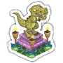 Sticker trexstatue@2x