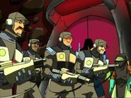 Federation Soldiers and Alien Local
