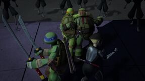 The turtles and Karai Vs the foot