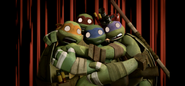 Turtles scream in terror