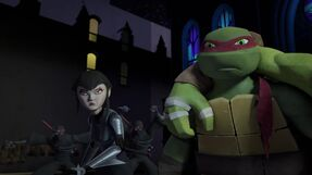 The turtles and Karai Vs the foot2