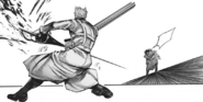Arima wielding IXA against Ayato