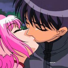 Ichigo kissing in the last episode