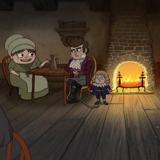Left to right: Highwayman (back), The Tailor, The Midwife, Master and Apprentice, Butcher, and Tavern Keeper.