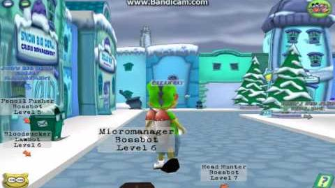 Toontown- jumping over a micromanager