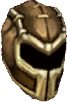 Armor rosy buckled helm