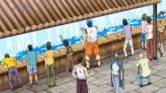 Toriko and Komatsu drinking from Holy Water