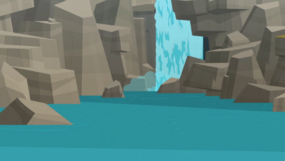 Total drama pahkitew island waterfall background by totaldramalegohd-d7pv610