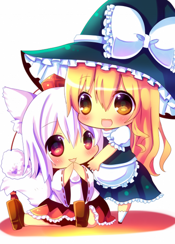 File:Touhou - Momiji & Marisa.png